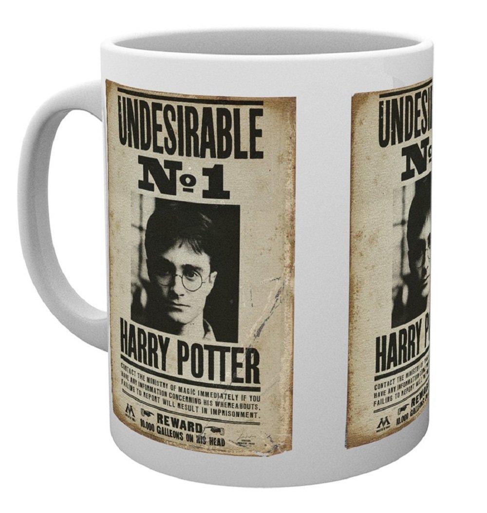 Harry Potter Tazza, 15x 10x 9cm, Legno, All Crests, 15x10x9 cm GB eye MG1158