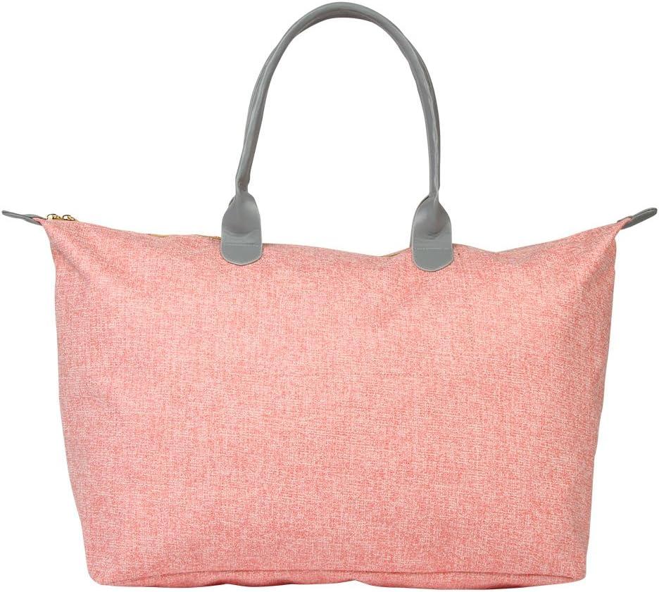 Coral Mi-Pac Womens Canvas and Beach Tote Bag