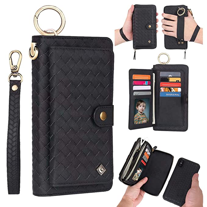 iphone xs max case wallet black