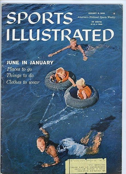 e7b37b0b6b SI: Sports Illustrated Magazine January 6, 1958 June in January Bahamas  Vacation