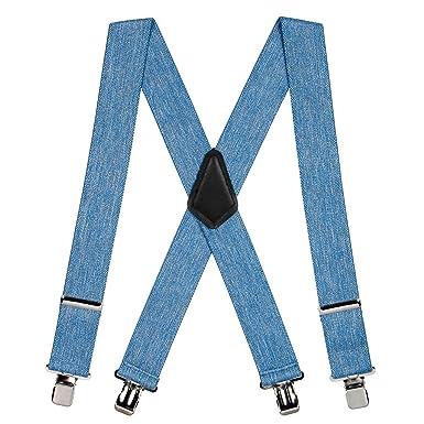 the cheapest cheaper huge sale SuspenderStore Men's Classic 2-Inch Wide Clip Suspenders