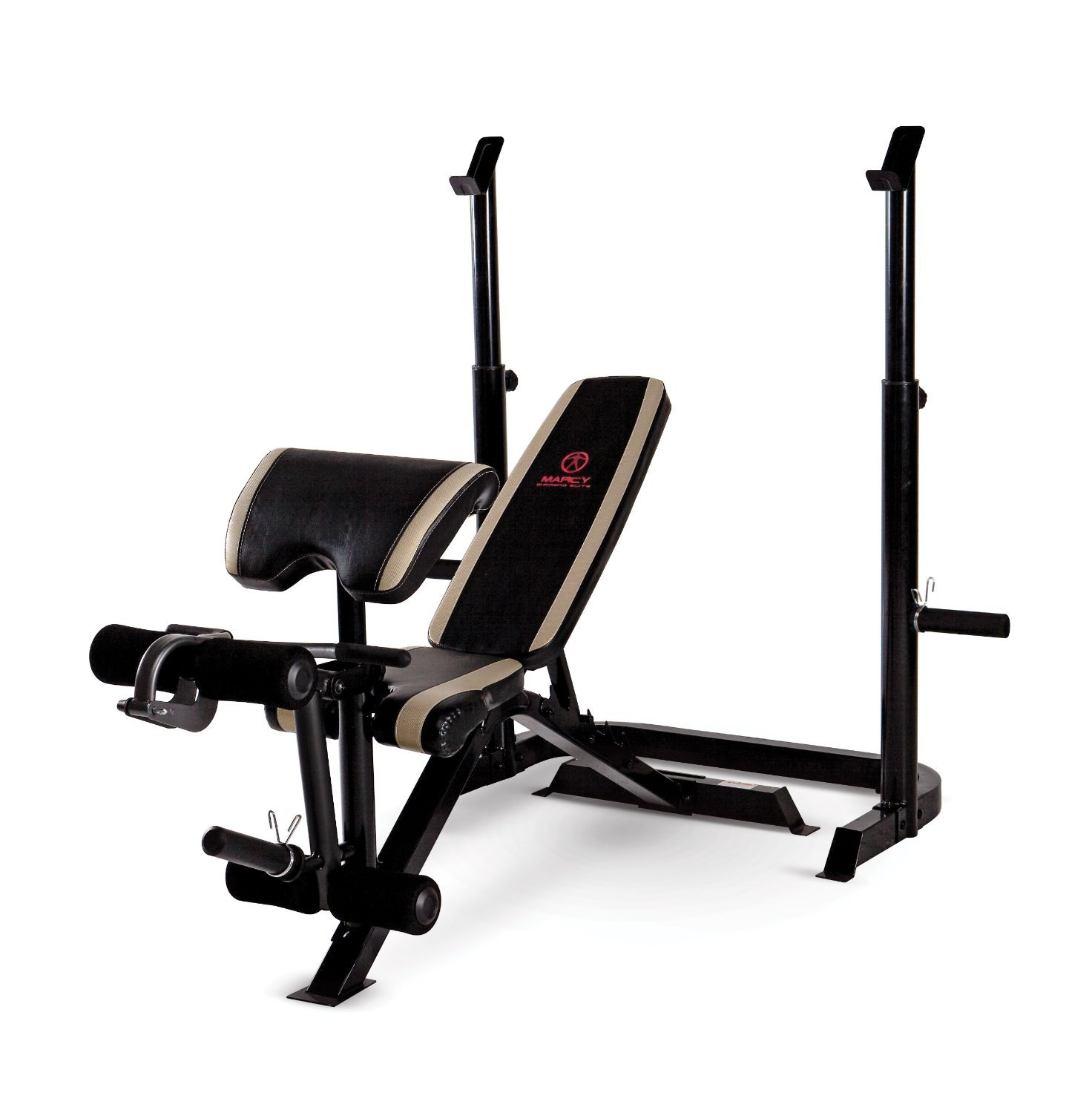 Marcy Adjustable Olympic Weight Bench with Leg Developer and Squat Rack MD-879 by Marcy (Image #2)