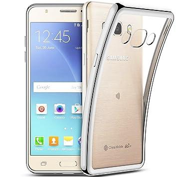 Funda Samsung Galaxy J5 2016, Coodio Samsung Galaxy J510 Funda Carcasa Case Chrome Enchapado Bumper [Shock-Absorción] [Anti-Arañazos] Silicona Case ...