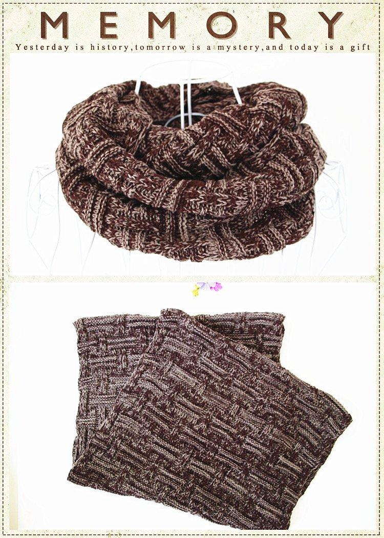 Pinaniu Beanies Matching Ribbed Winter Warm Cable Knit Infinity Scarf Fashion Winter Circle Scarf Wrap Infinity Circle Loop Scarf