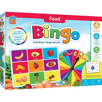 MasterPieces Educational-Food Bingo Game, Multicolored: Toys & Games