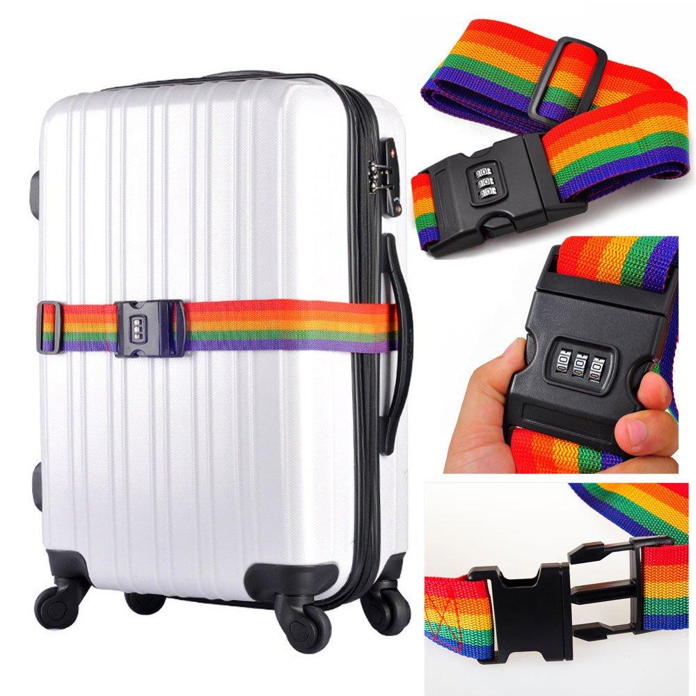 Elaco 荷物バンジー 旅行かばん スーツケース 調節可能なベルト バッグストラップ付き バンジー旅行に  D B0743212JD