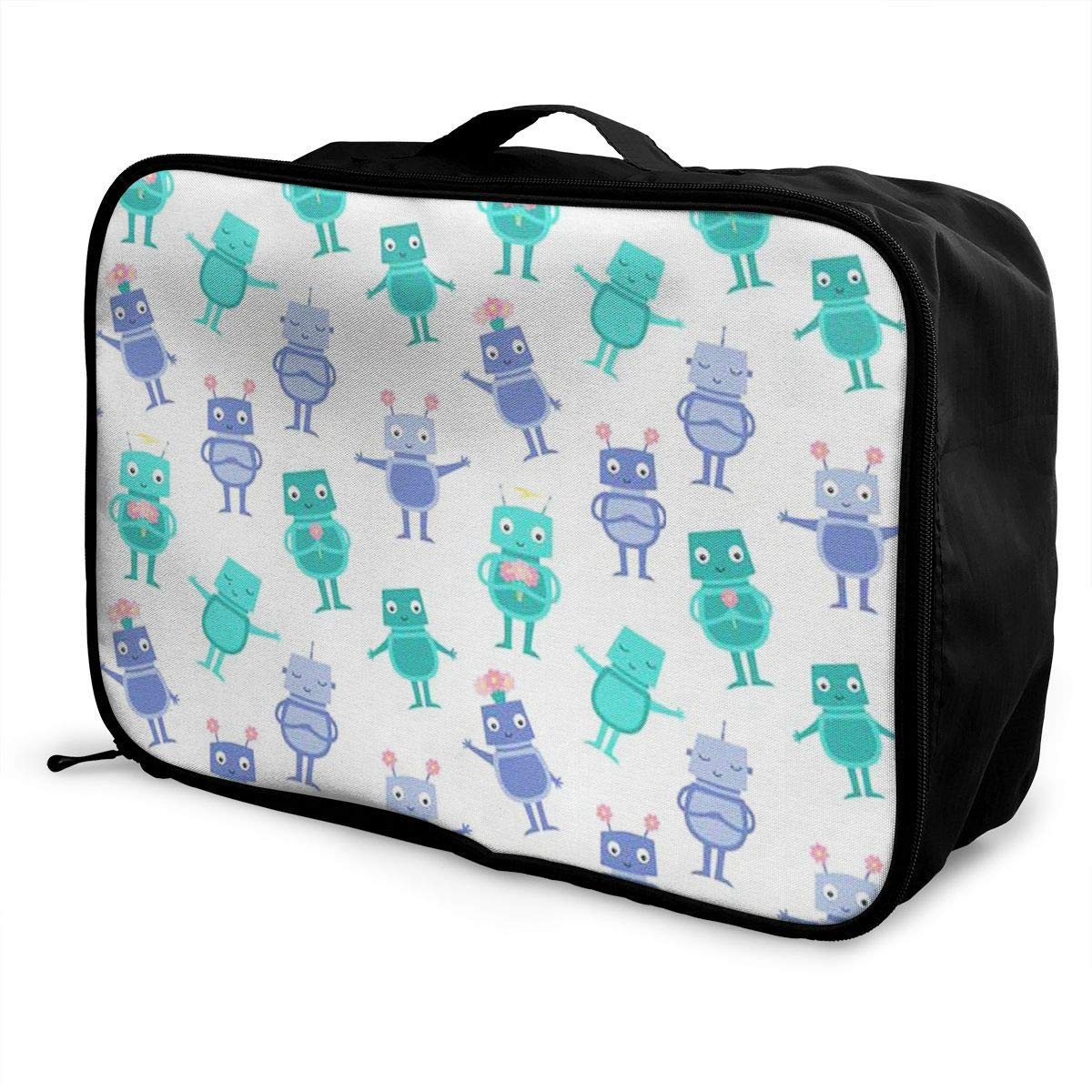 Portable Luggage Duffel Bag Robot Travel Bags Carry-on In Trolley Handle