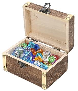 Amazon with box children gemsdiamonds toys with antique wood with box children gemsdiamonds toys with antique wood treasure box toy negle Image collections