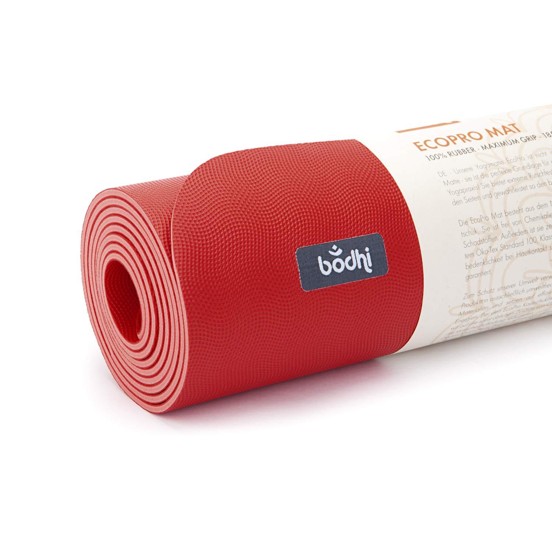 ECOPRO - Esterilla de yoga (caucho) karminrot: Amazon.es ...