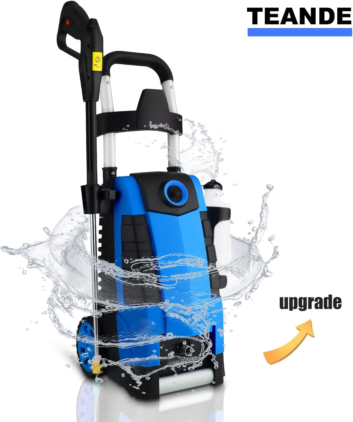 MAX 2.8GPM Electric Power Washer 1800W High Pressure Washer MR3800 TEANDE 3800PSI Electric Pressure Washer Blue