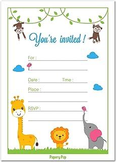 Amazoncom Safari Jungle Zoo Animals Party Invitations for Kids