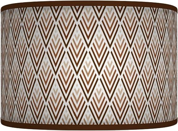 30 cm marrone triangoli reto Geometric Handmade Giclee Style