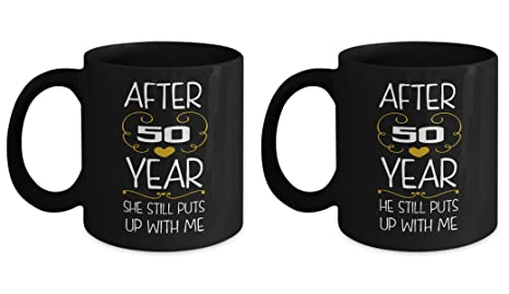 60e9c716dfae Amazon.com: 50th Wedding Anniversary Gifts Set After 50 years funny ...