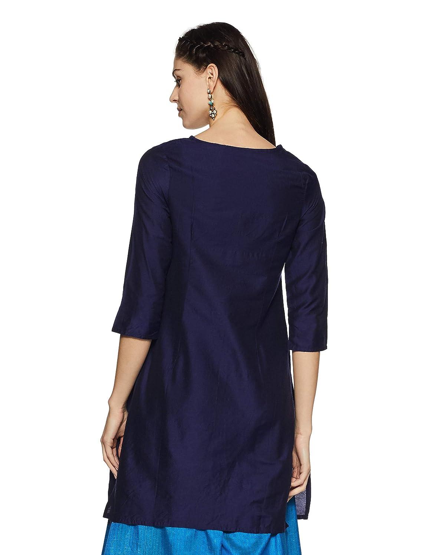 a51c387b834 Rangmanch By Pantaloons Women s Straight Kurta (110030756005)  Amazon.in   Clothing   Accessories