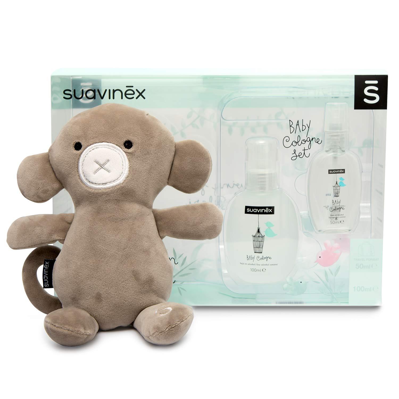 Suavinex, Set Regalo Recién Nacido Baby Cologne 100 ml + Baby Cologne 50 ml Formato Viaje + Peluche de Regalo, 1 product image