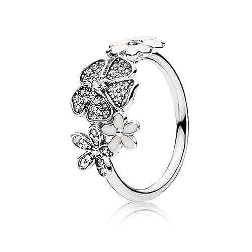 Pandora Damen-Ring Blumen-Bouquet 925 Zirkonia silber 190984CZ