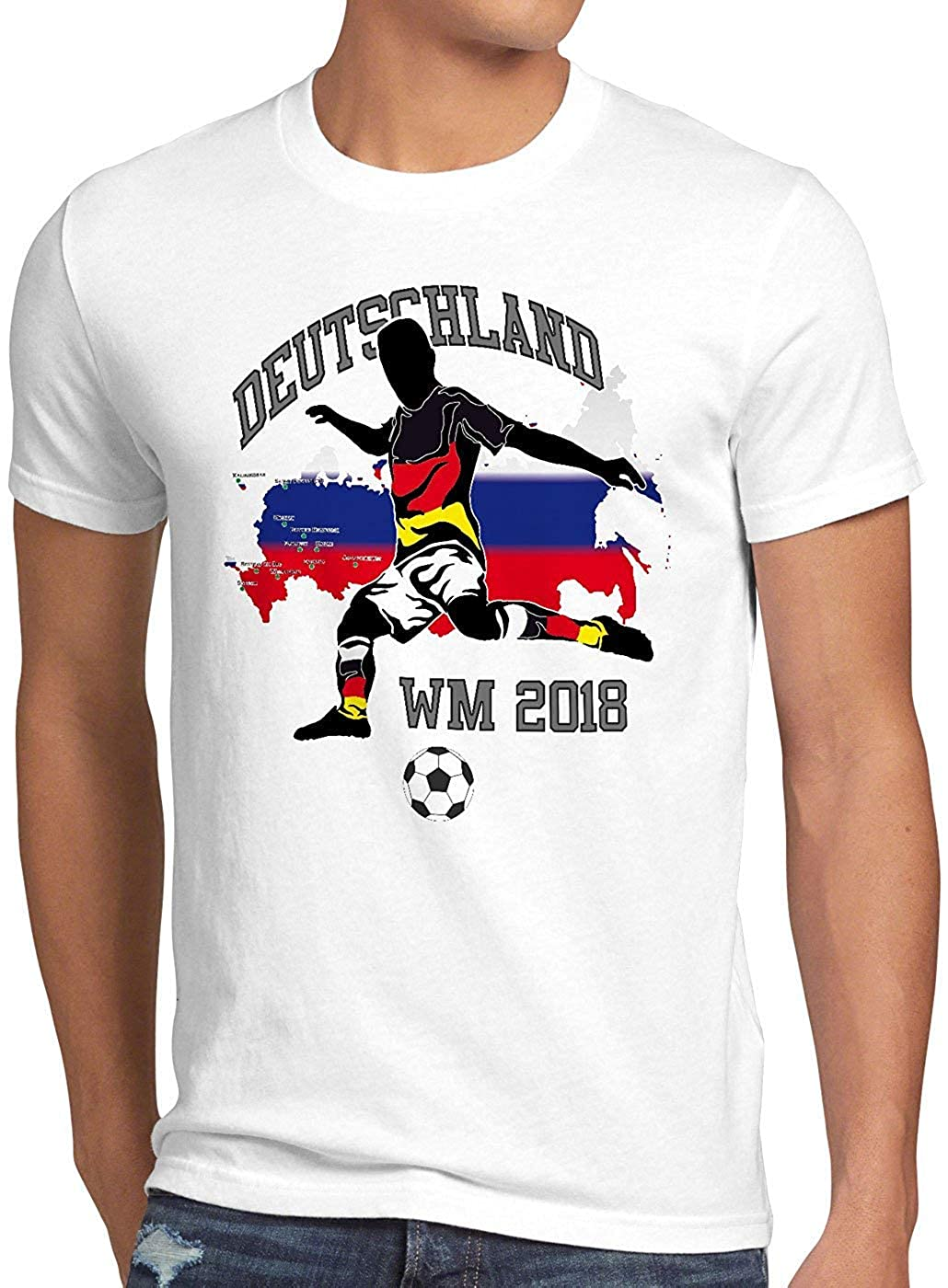 e3412589e6b Freestyle Tee WM 2018 German Football World Cup Men s T-Shirt ...
