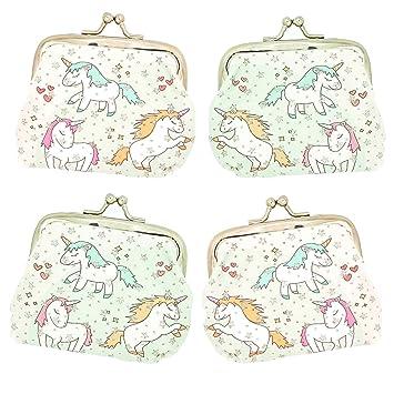 4 bolsitas de unicornio de tela brillante, divertidas para ...