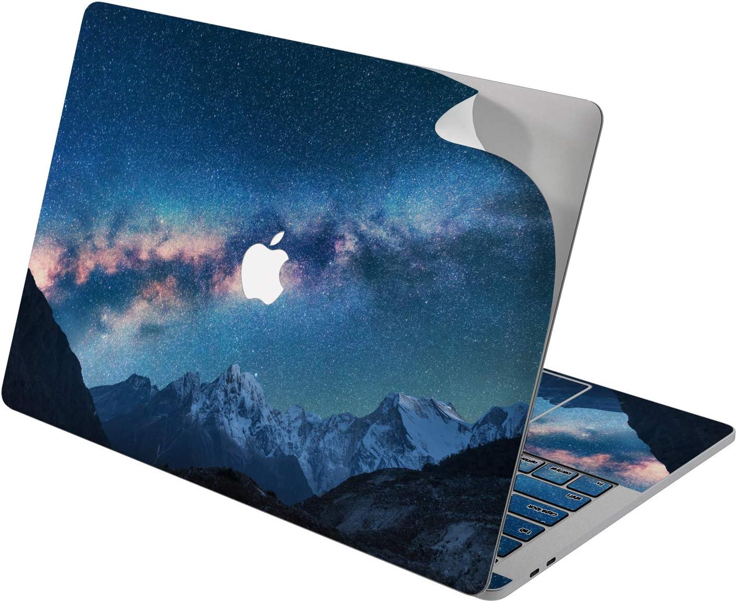 "Cavka Vinyl Decal Skin for Apple MacBook Pro 13"" 2019 15"" 2018 Air 13"" 2020 Retina 2015 Mac 11"" Mac 12"" Cover Range Stars Design Sticker Sky Night Protective Scenic Space Mountain Galaxy Print Laptop"