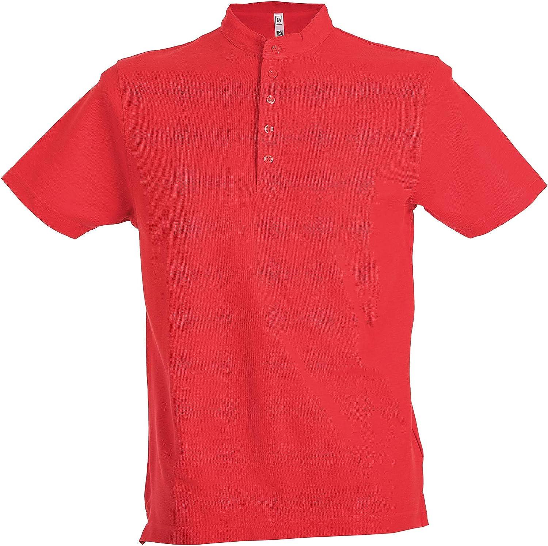 Polo Da Lavoro Uomo T-Shirt Con Colletto Coreana 100/% Cotone Piquet JRC Kuwait