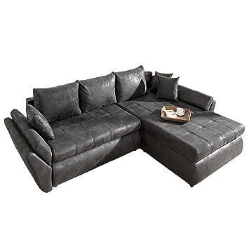 awesome design ecksofa rodeo vintage grau im used look mit schlafsofa couch with retro ecksofa with retro ecksofa
