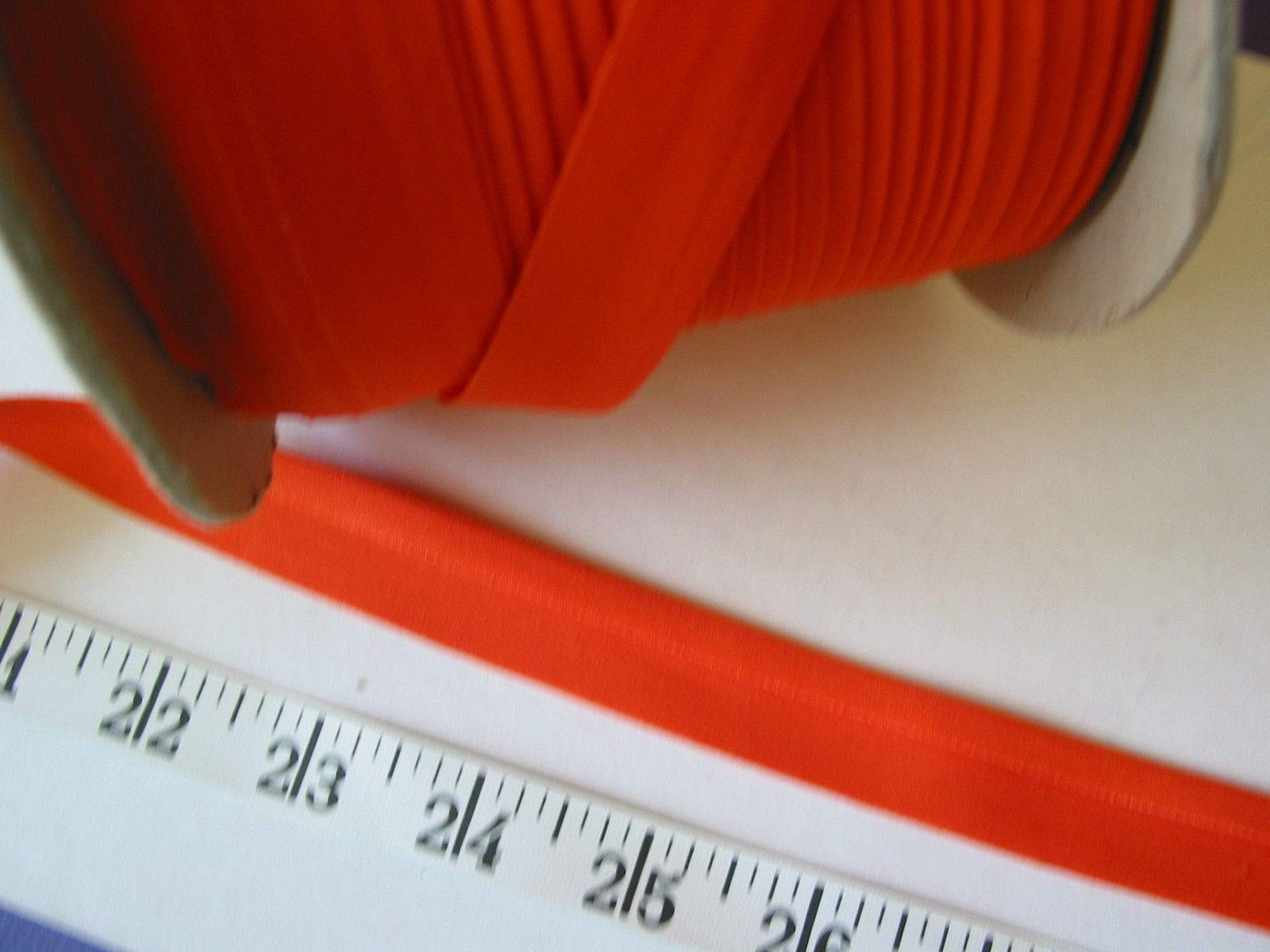 Bias Binding Tape Poly Cotton Orange 3/4 One Fold 175? Yd Roll by Gonling