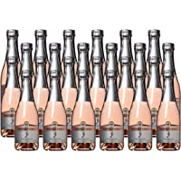 Barefoot Bubbly California Pink Moscato Sparkling Mini Wine Bottles, 24 x 187ml
