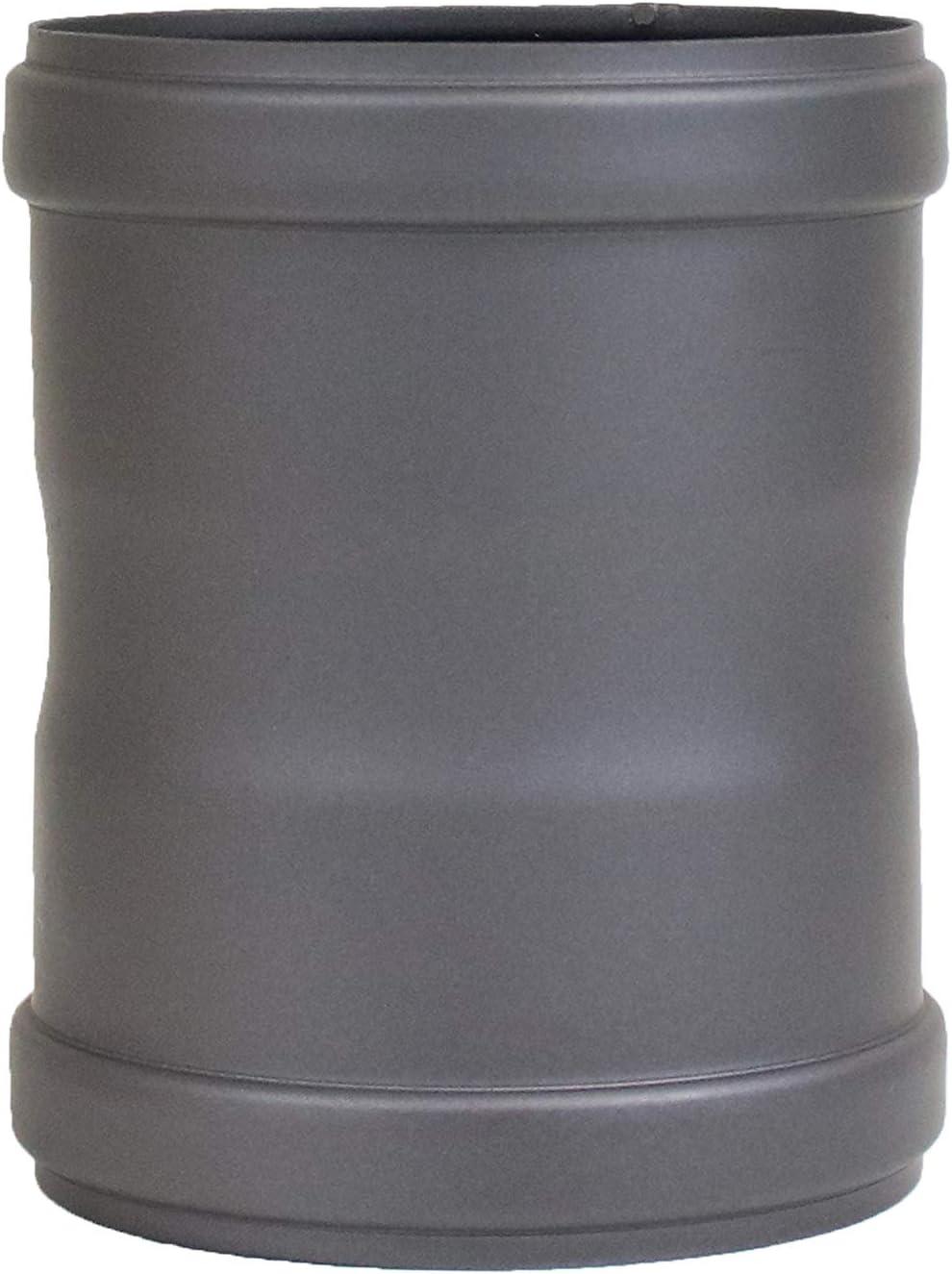 130/mm color negro 80/mm de di/ámetro lanzzas Pellet Pell etrauch Tubo Pellet estufa de pellets Chimenea Tubo verbi ndun t/ück Tubo manguitos dobles longitud aprox