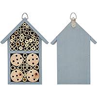 Bijenhotel, insectenhuis nuttige insecten aan Logboeken en bamboe voor tuinbenodigdheden voor insecten en bijen om…