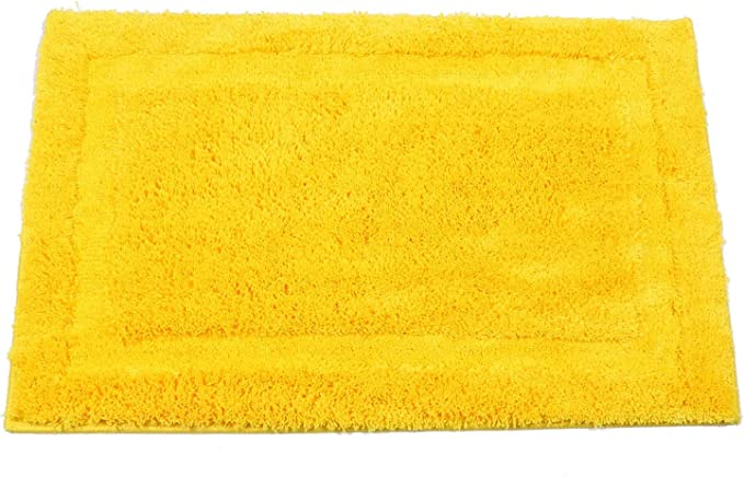 Amazon Com Shacos Super Soft Bathroom Rug Bath Mat Microfiber Absorbent Non Slip Bath Rug For Bathroom Indoor Doormat Machine Washable 20 X32 Yellow Kitchen Dining