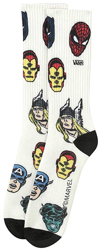 d650c45b1999 Vans x Marvel Crew Sock (Darkest Spruce) Men s Marvel Comics Socks at  Amazon Men s Clothing store
