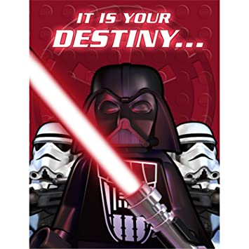 LEGO Star Wars 8x EINLADUNGSKARTEN / Kindergeburtstag   Aus USA