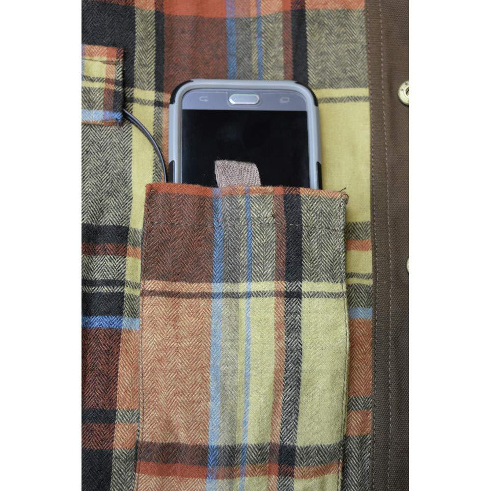 DEWALT DCHJ081TD1-XL Heated Heavy Duty Shirt Jacket, XL, Tobacco by DEWALT (Image #4)
