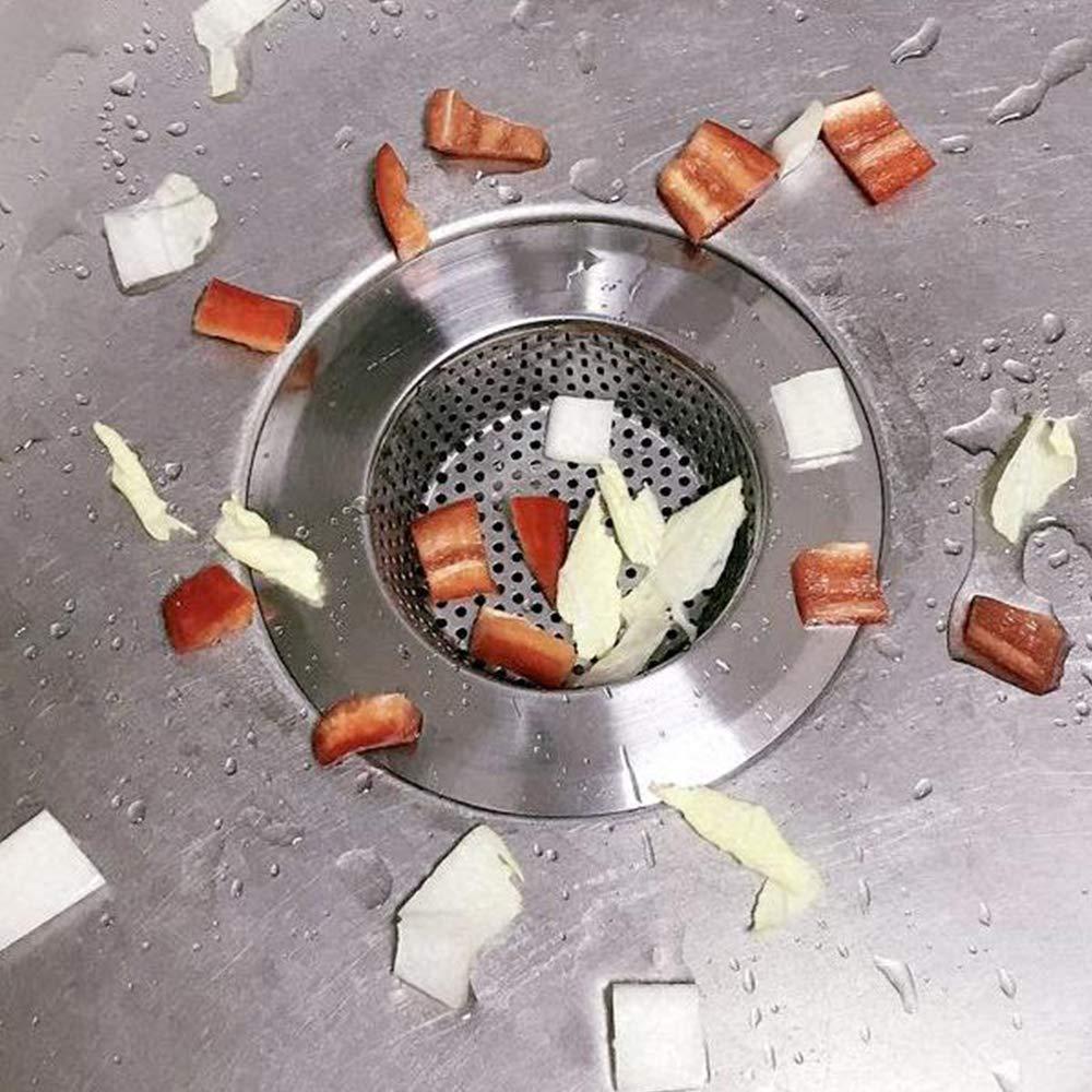 Xinlie Filtres /à /évier en Acier Inoxydable Drain Plug Vidange Cr/épine Panier Salle De Bains Bouchon De Vidange Cr/épine /Évier De Cuisine Bouchon /Évier Filtre /Évier De Filtre 2.76inch//7cm 2PCS