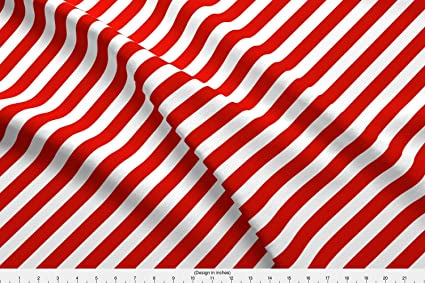 Amazoncom Spoonflower Red And White Fabric Red And White Candy