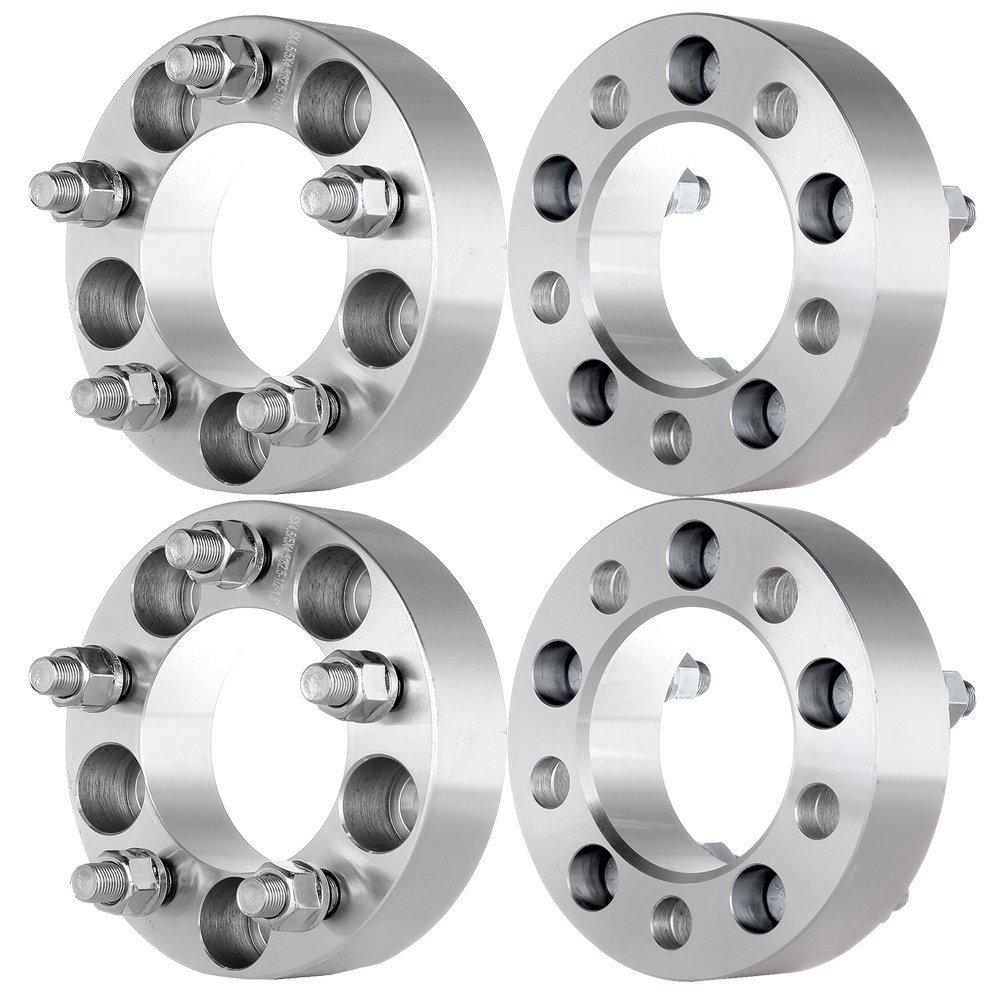 4pcs 2 Wheel Spacers Adapters 5x5.5 to 5x5.5 for 5 Lug 5x139.7 Dodge Ram 1500 Dakota Durango 9//16 Studs