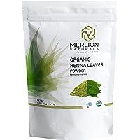 MERLION NATURALS Organic Henna Leaves Powder, 227 G