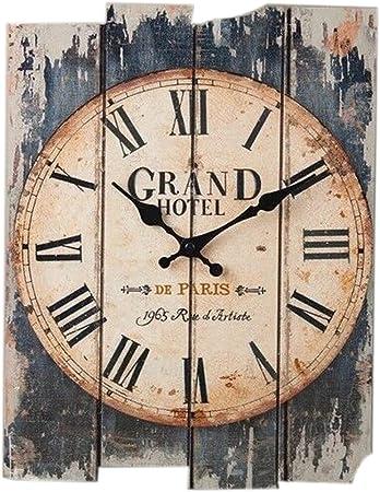 Amazon De Teckpeak Holz Wanduhr Lautlos 12 Zoll Wanduhr Vintage Rechteckige Silent Uhr