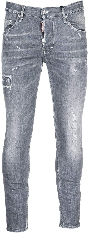 Dsquared2 Vaqueros Jeans Denim De Hombre Pantalones Skater Gris Amazon Es Ropa Y Accesorios