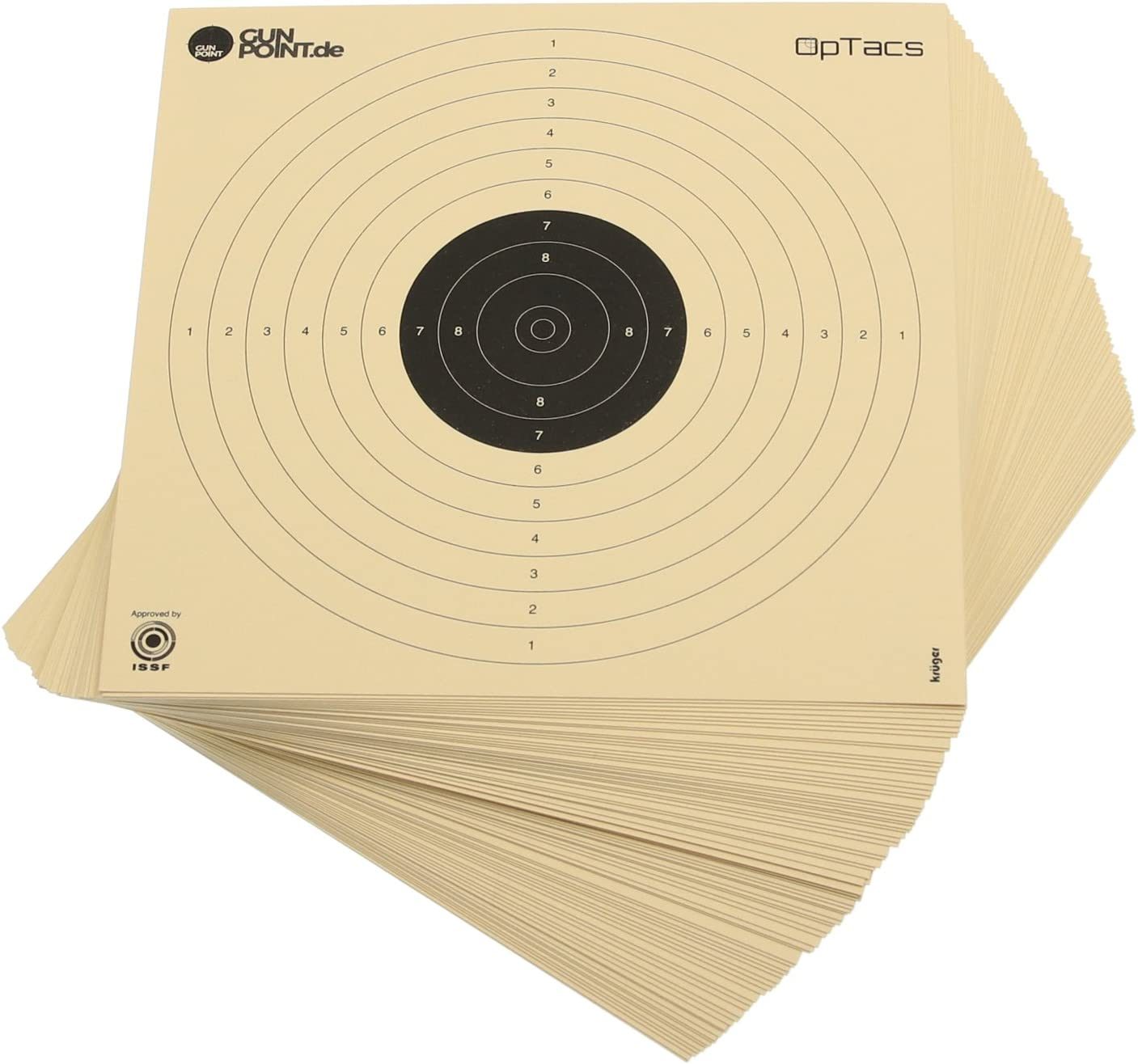 250 unidades de disco de pistola de aire 17 x 17 cm / diana de pistola de aire