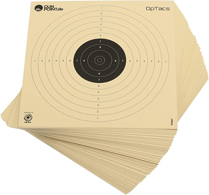 OpTacs Lot de 100 disques /à Pistolet 26 x 26 cm