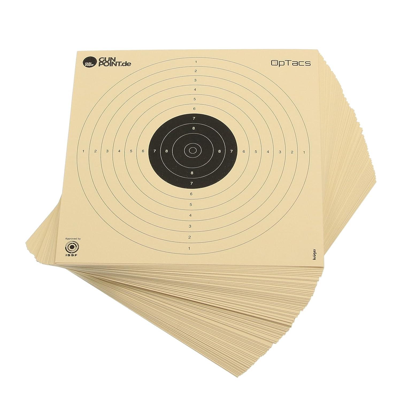250 Stück Luftpistolenscheiben 17 x 17 cm / Zielscheibe Luftpistole Krüger