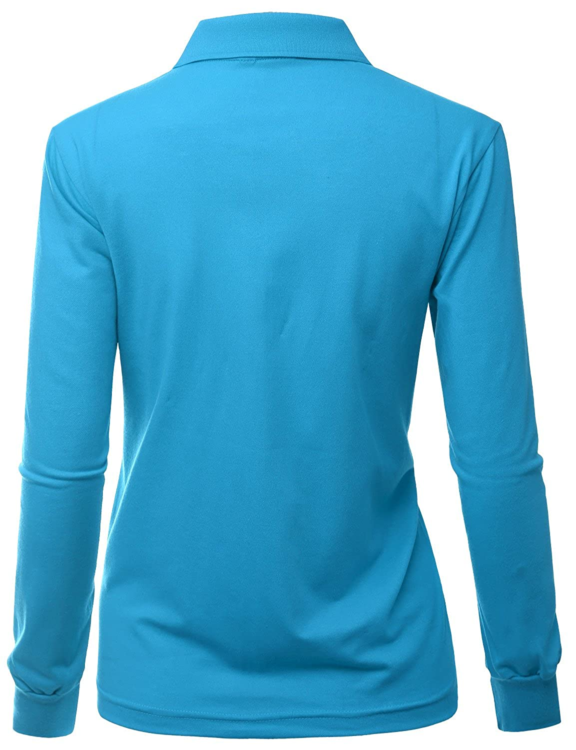 Xpril Womens Casual Basic Sporty Long Sleeve Polo Collar T Shirt At