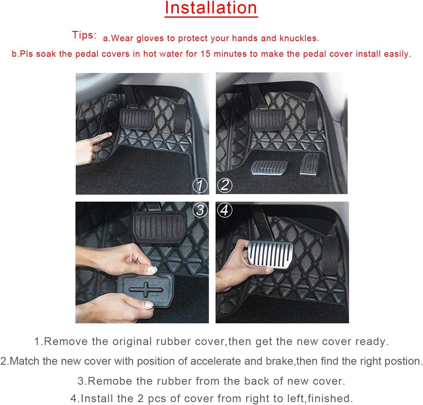 Ruiya P/édales de protection antid/érapantes pour p/édale en aluminium pour voiture Mod/èle 3