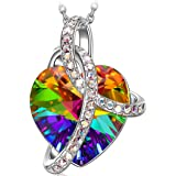 """Sivery """"dono d'amore"""" collana donna, Ciondolo con cristalli di Swarovski, gioielli donna, regalo donna"""