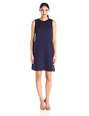 Tommy Hilfiger Women's Textured Knit Sleeveless Shift Dress, Navy, 8