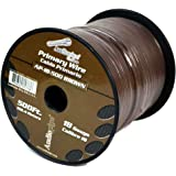 Audiopipe Brown 500' Feet 18 Gauge AWG Car Audio Primary Power Cable Remote Wire