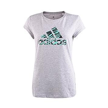 Adidas Performance Women de Manga Corta para Gimnasio Camiseta, Mujer, Gris, XS (4-6UK): Amazon.es: Deportes y aire libre