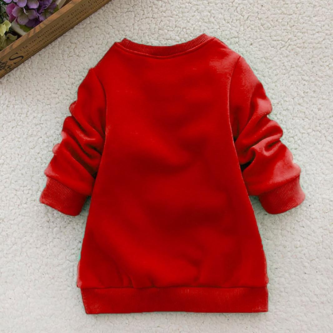 Toddler b/éb/é /à manches longues impression de no/ël Deer Tops Sweatshirt pour 1-4 Ans 4T Enfants Blouse de No/ël Autumnwind
