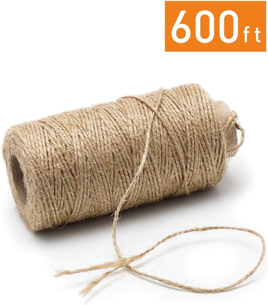 Hornear 200M Cuerda de algod/ón,Cuerda para envolver regalos de Navidad,Cuerda de manualidades,para jardiner/ía,Envolver Regalos